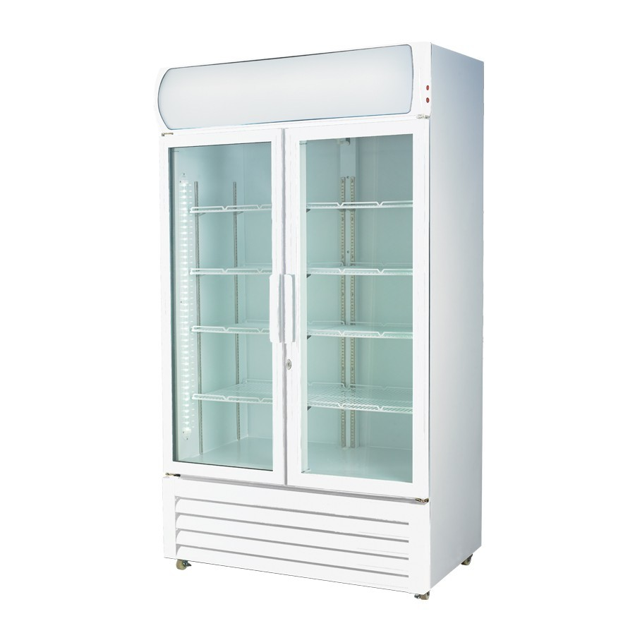 Glass door drink fridge