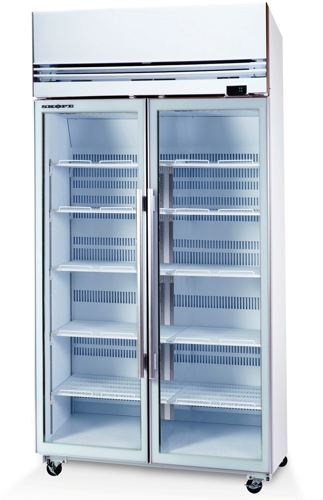 2 glass door freezer