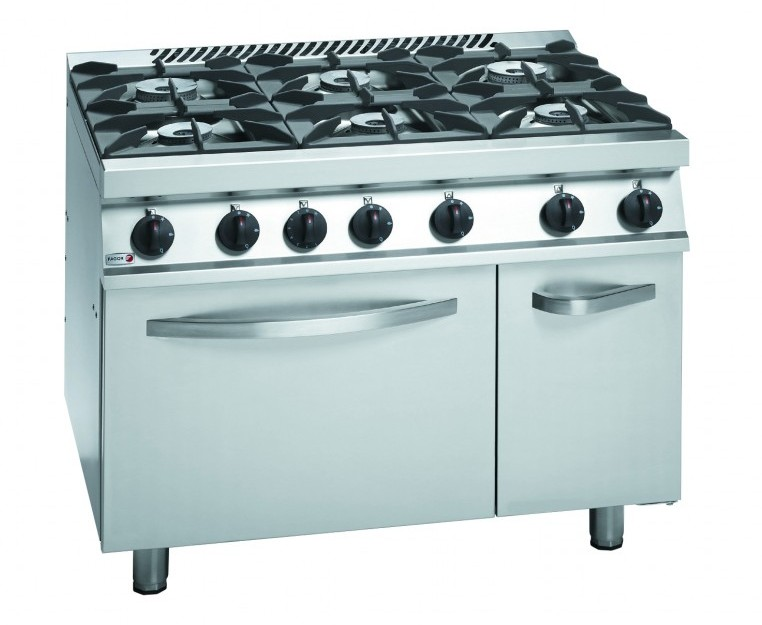 6 burner gas top range with oven