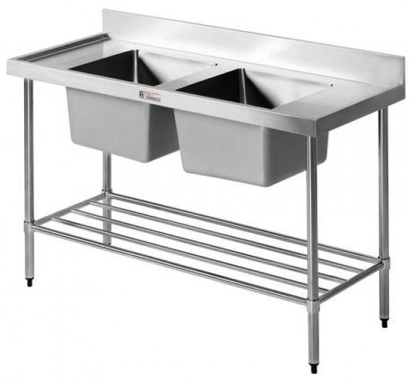 Simply Stainless Double Sink-Bench