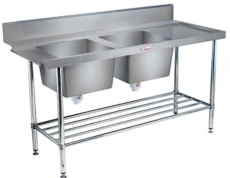 Double Sink Dishwasher-Inlet Bench