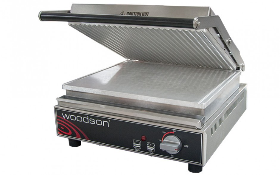Woodson WCT8R Ribbed Contact-Grill